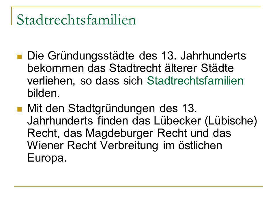 Stadtrechtsfamilien