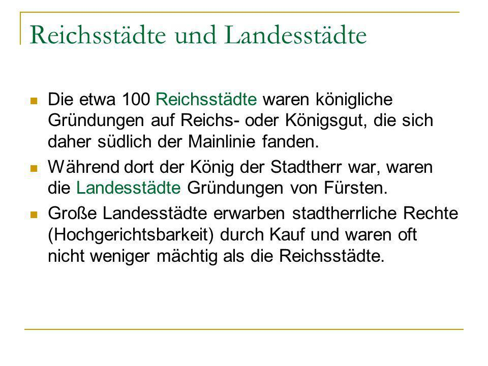Reichsstädte und Landesstädte