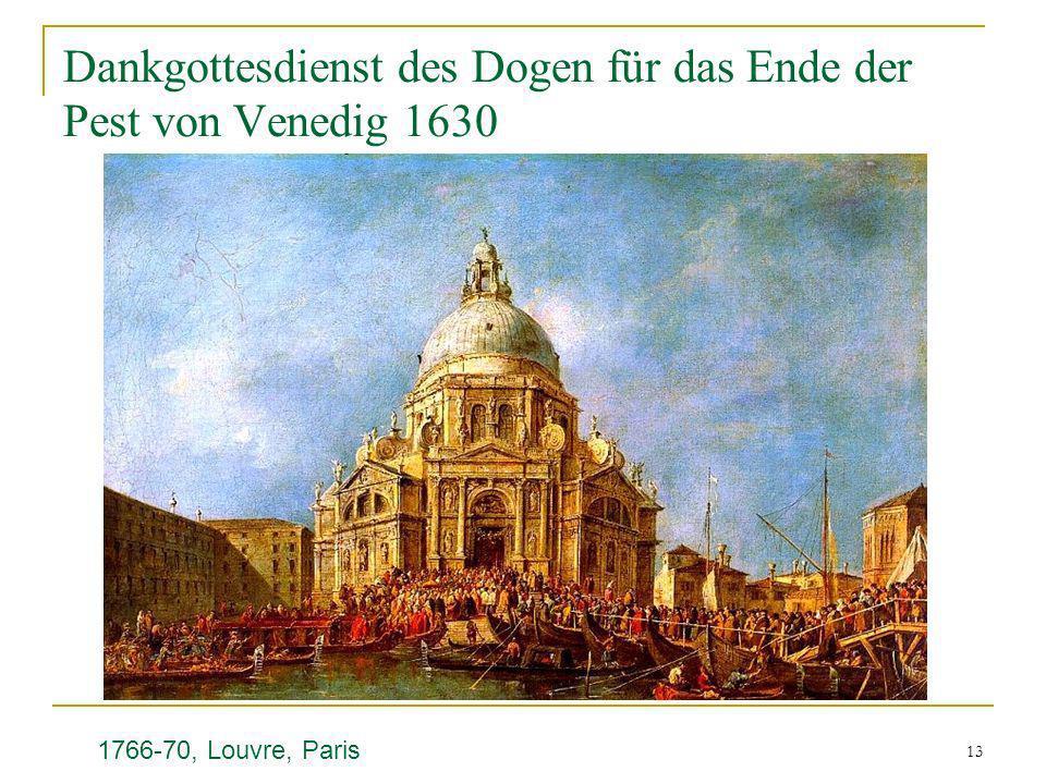 Dankgottesdienst des Dogen für das Ende der Pest von Venedig 1630