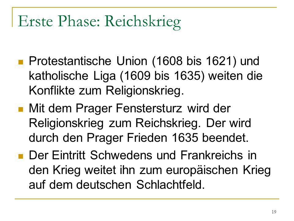 Erste Phase: Reichskrieg