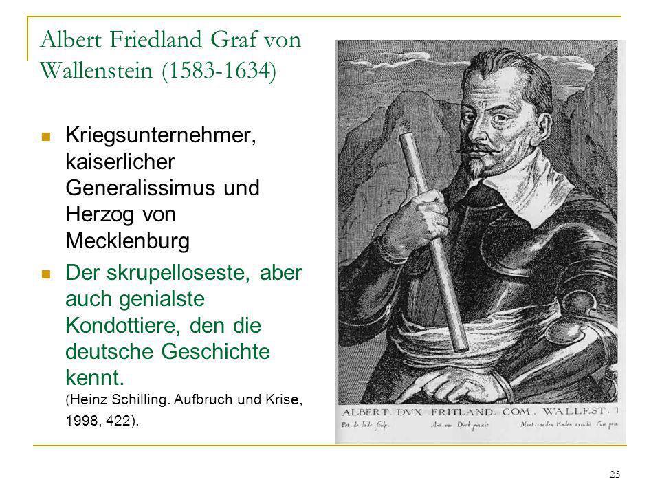 Albert Friedland Graf von Wallenstein (1583-1634)