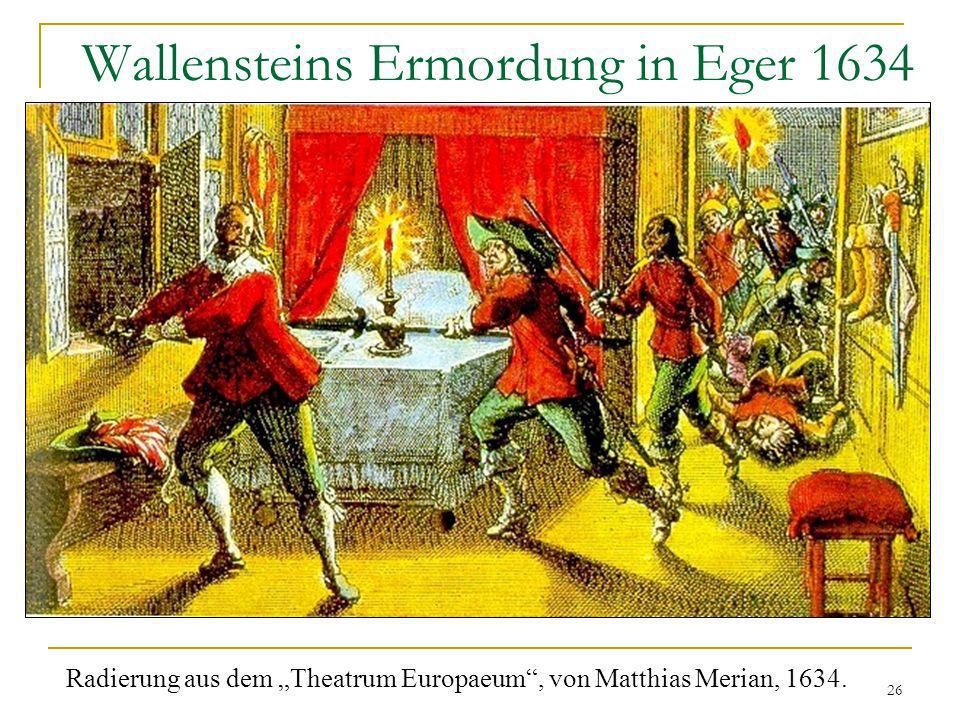 Wallensteins Ermordung in Eger 1634