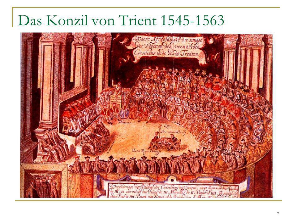 Das Konzil von Trient 1545-1563