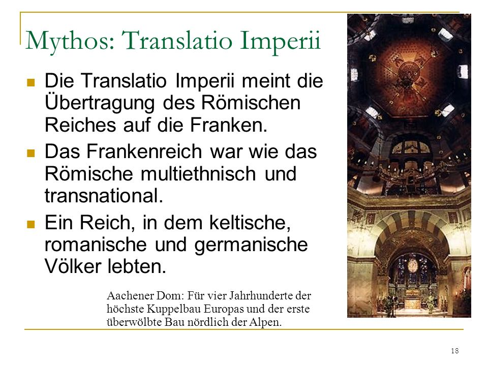 Mythos: Translatio Imperii