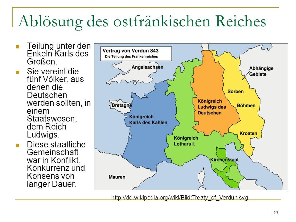 Ablösung des ostfränkischen Reiches