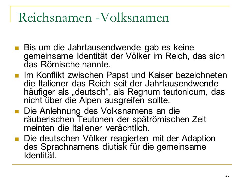Reichsnamen -Volksnamen