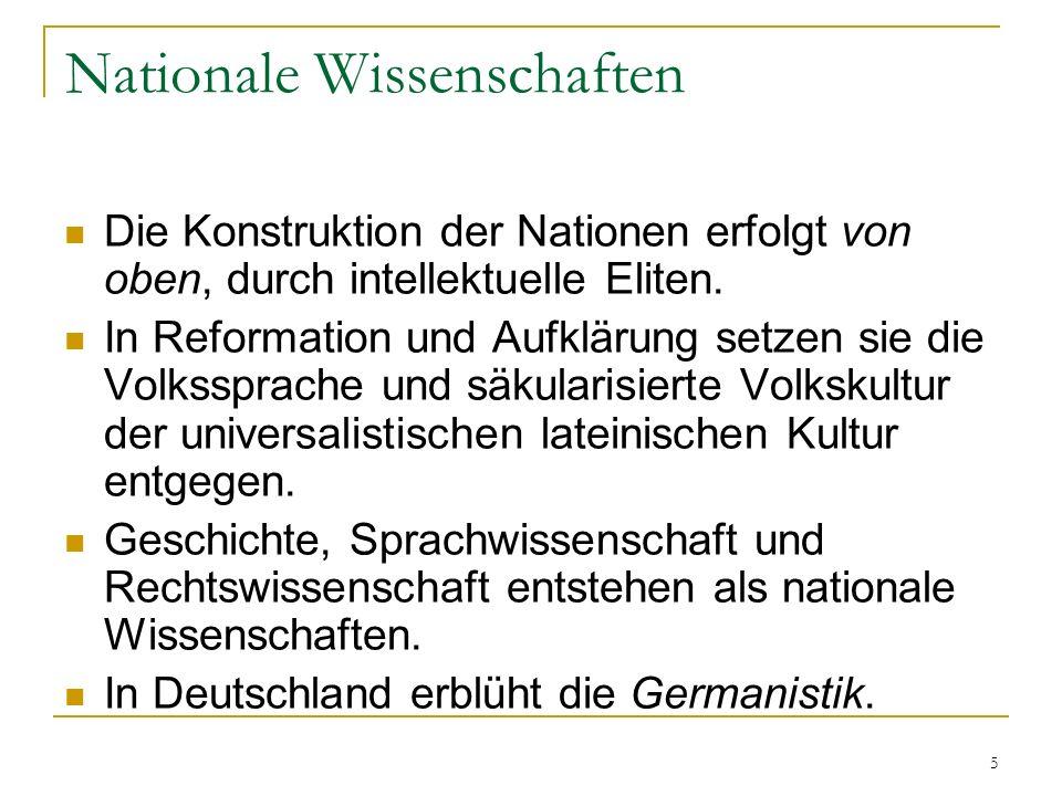 Nationale Wissenschaften