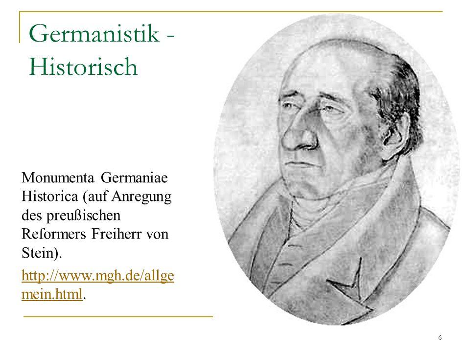 Germanistik - Historisch