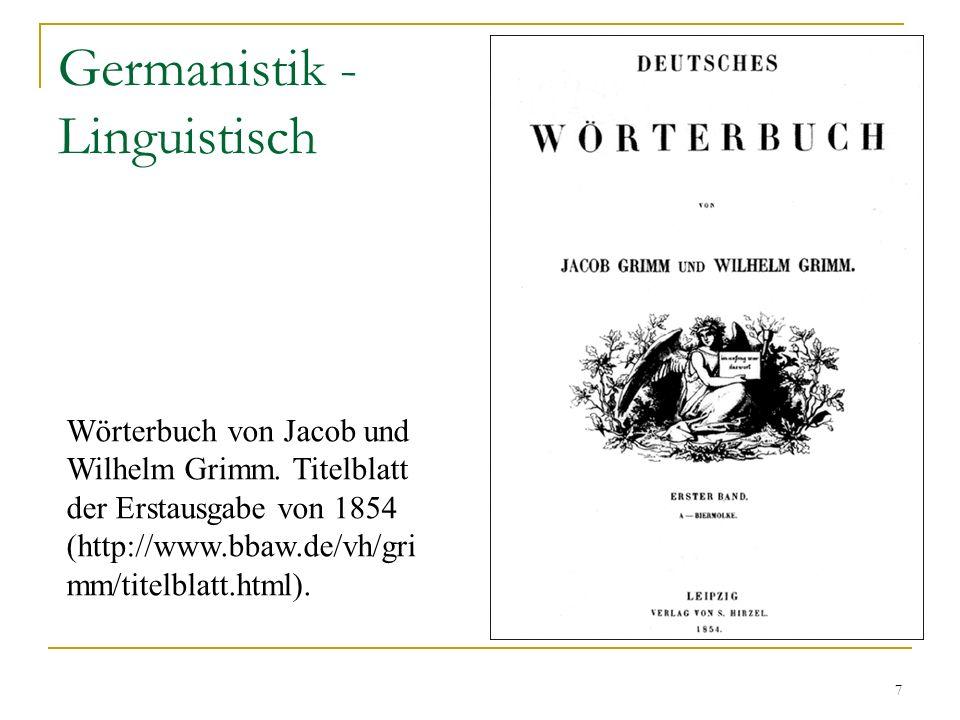 Germanistik - Linguistisch