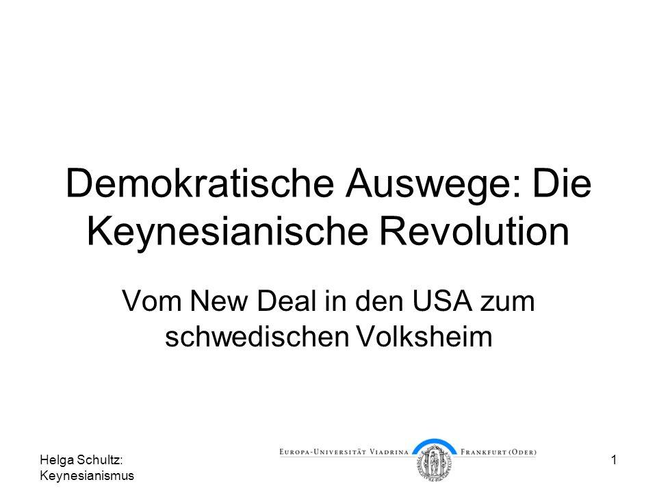Demokratische Auswege: Die Keynesianische Revolution