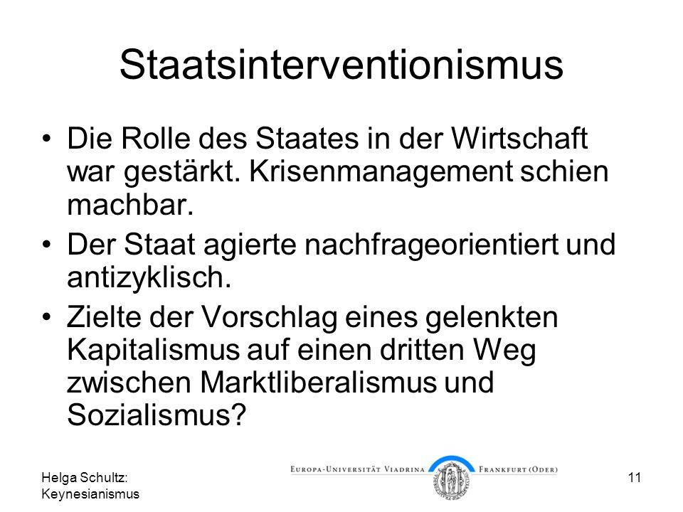 Staatsinterventionismus