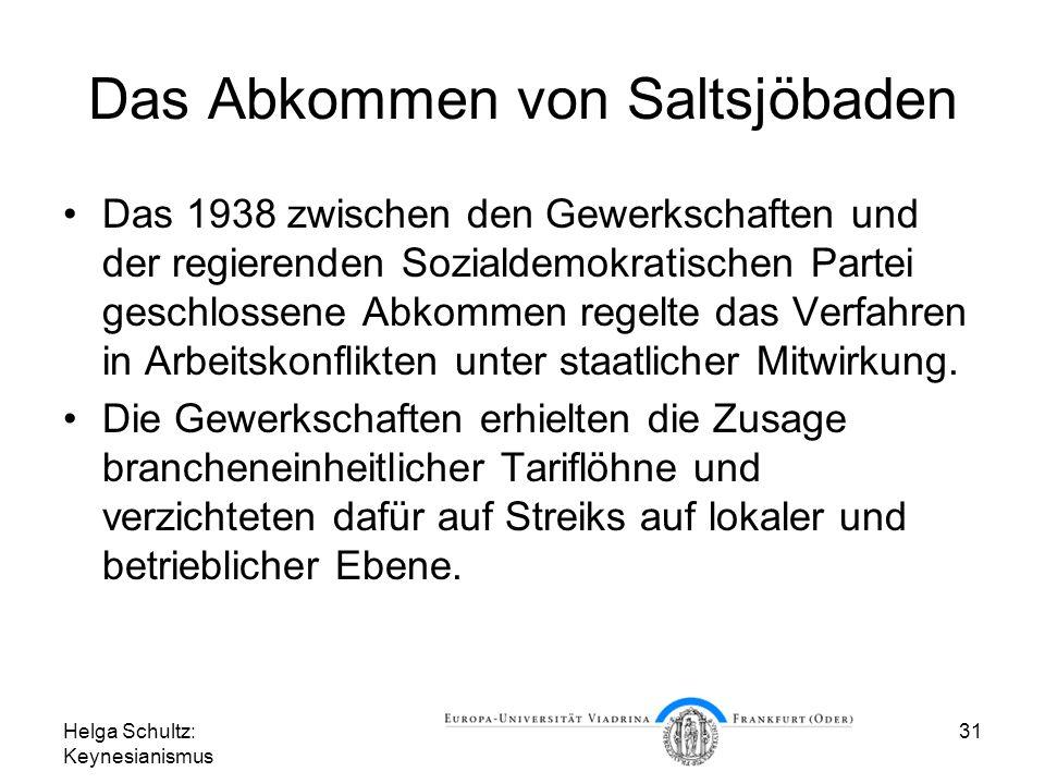 Das Abkommen von Saltsjöbaden