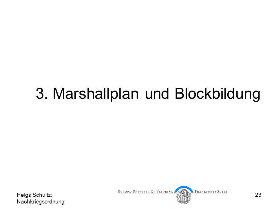 3. Marshallplan und Blockbildung