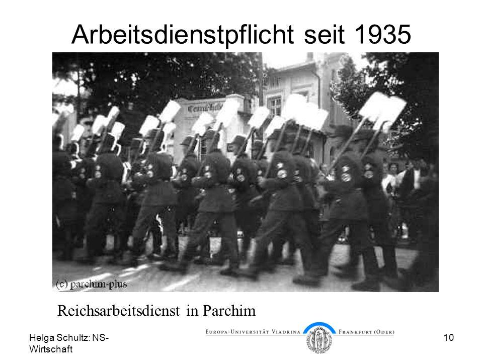 Arbeitsdienstpflicht seit 1935