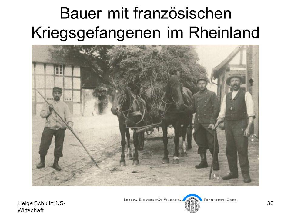Bauer mit französischen Kriegsgefangenen im Rheinland