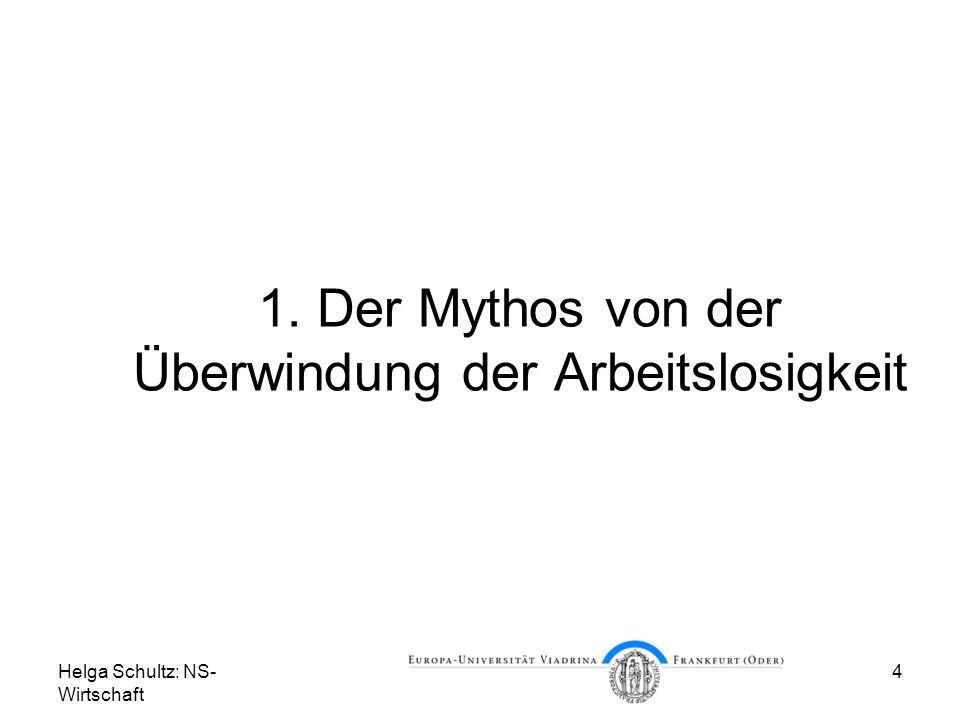 1. Der Mythos von der Überwindung der Arbeitslosigkeit