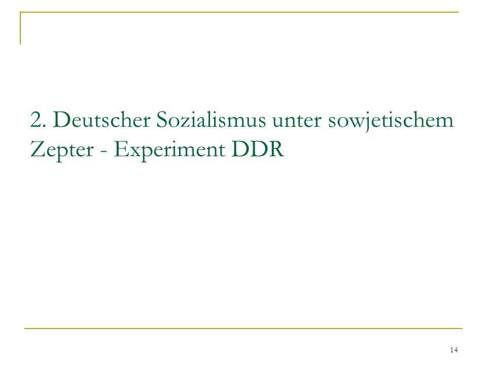 2. Deutscher Sozialismus unter sowjetischem Zepter - Experiment DDR