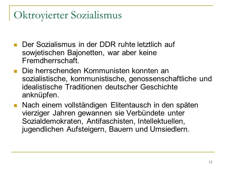 Oktroyierter Sozialismus