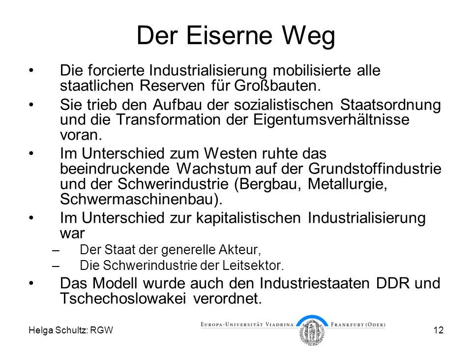 Der Eiserne Weg Die forcierte Industrialisierung mobilisierte alle staatlichen Reserven für Großbauten.