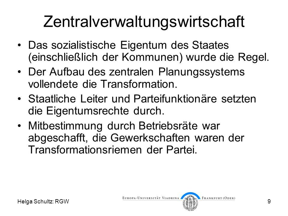 Zentralverwaltungswirtschaft
