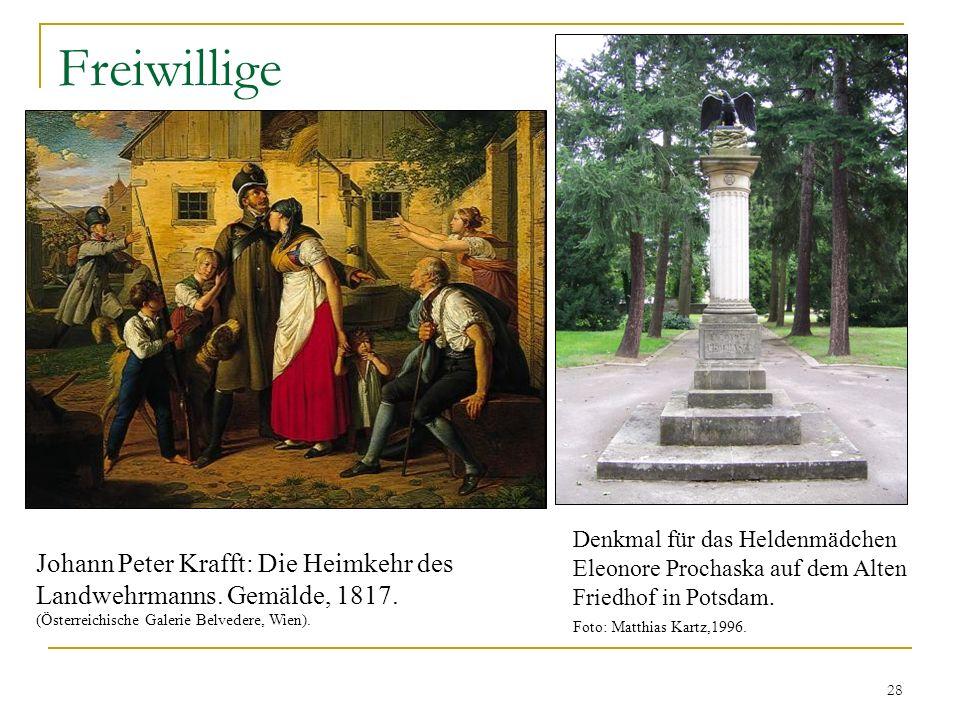 Freiwillige Denkmal für das Heldenmädchen Eleonore Prochaska auf dem Alten Friedhof in Potsdam. Foto: Matthias Kartz,1996.