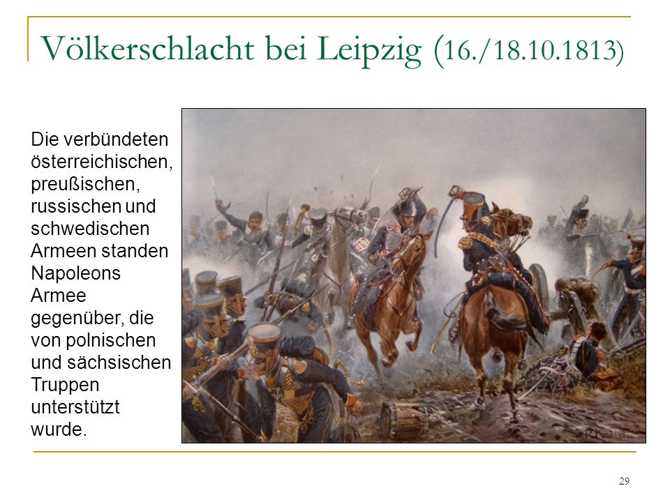 Völkerschlacht bei Leipzig (16./18.10.1813)