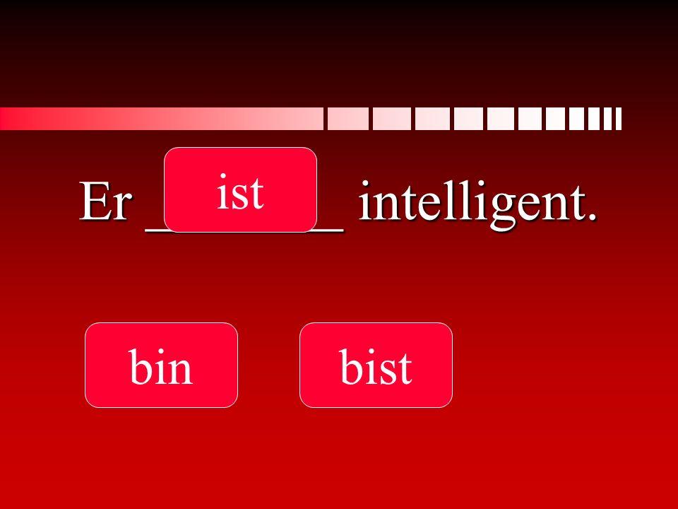Er _______ intelligent.