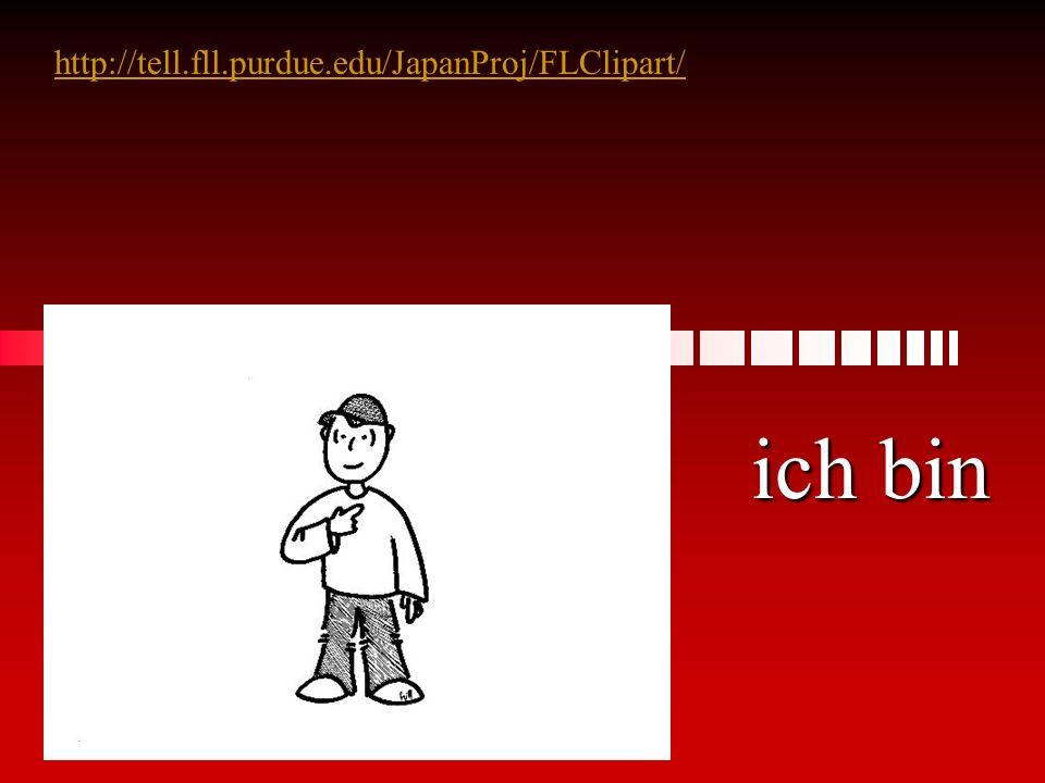 http://tell.fll.purdue.edu/JapanProj/FLClipart/ ich bin