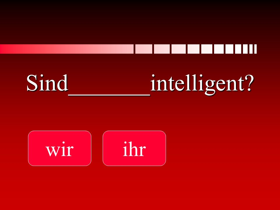 Sind_______intelligent
