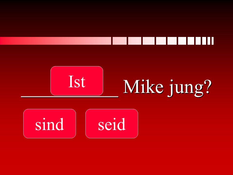 Ist __________ Mike jung sind seid