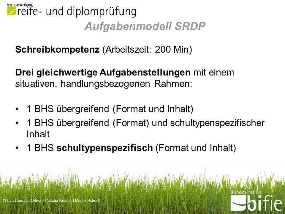 Aufgabenmodell SRDP Schreibkompetenz (Arbeitszeit: 200 Min)