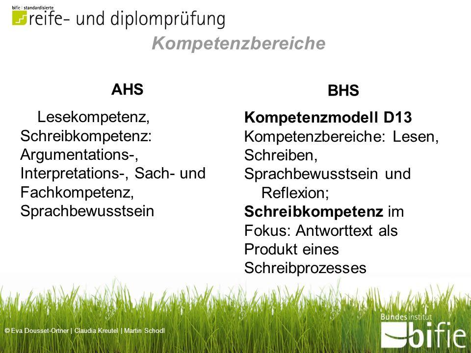 Kompetenzbereiche BHS AHS
