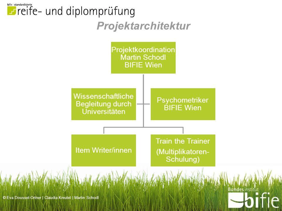 Projektarchitektur Projektkoordination Martin Schodl BIFIE Wien