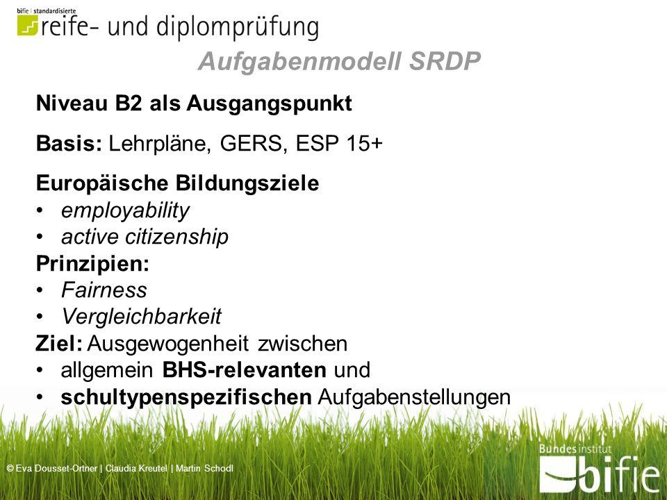 Aufgabenmodell SRDP Niveau B2 als Ausgangspunkt