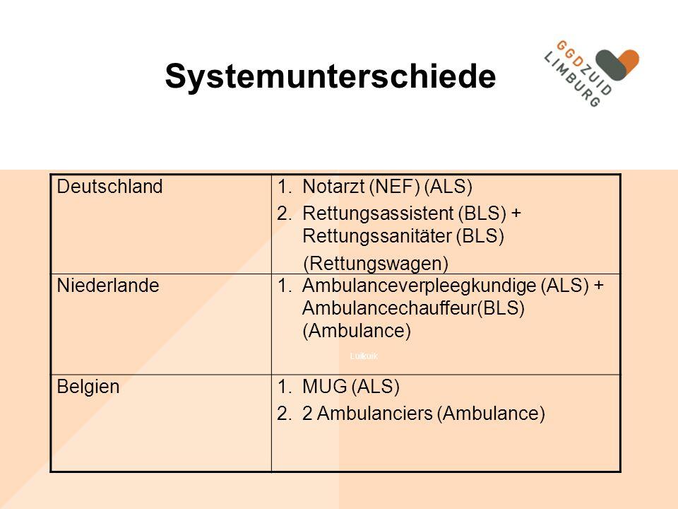 Systemunterschiede Systemunterschiede Deutschland Notarzt (NEF) (ALS)