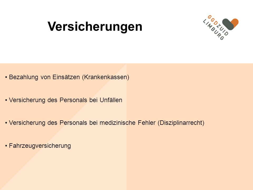 Versicherungen Bezahlung von Einsätzen (Krankenkassen)