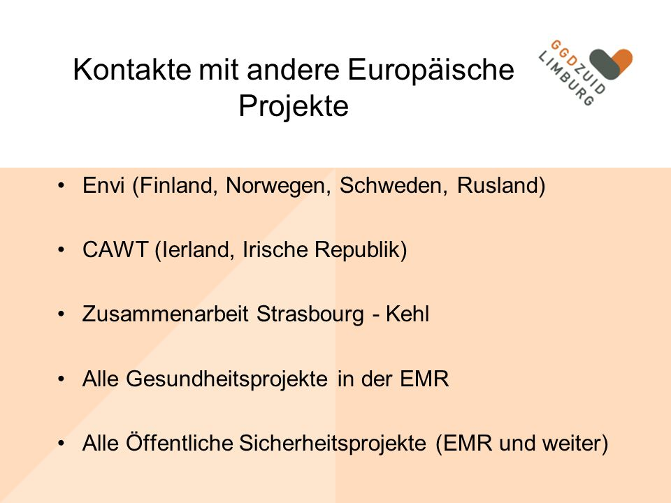 Kontakte mit andere Europäische Projekte