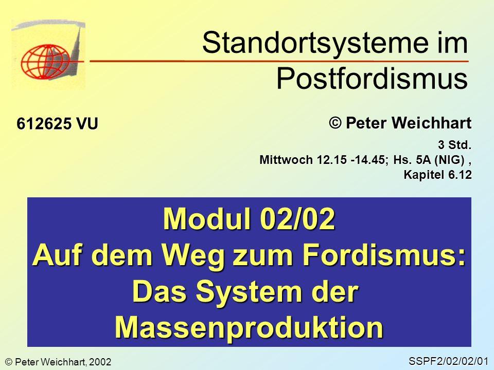 Standortsysteme im Postfordismus