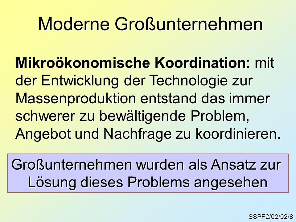 Moderne Großunternehmen