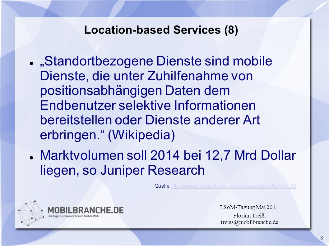 Location-based Services (8)