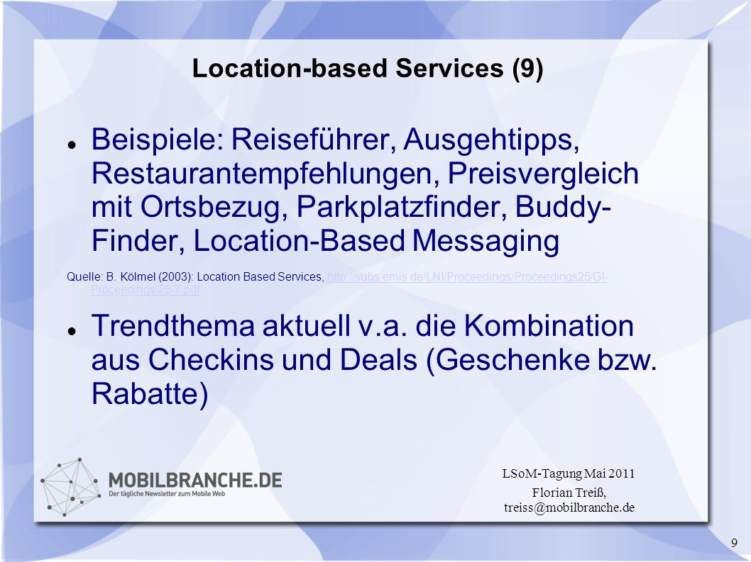 Location-based Services (9)