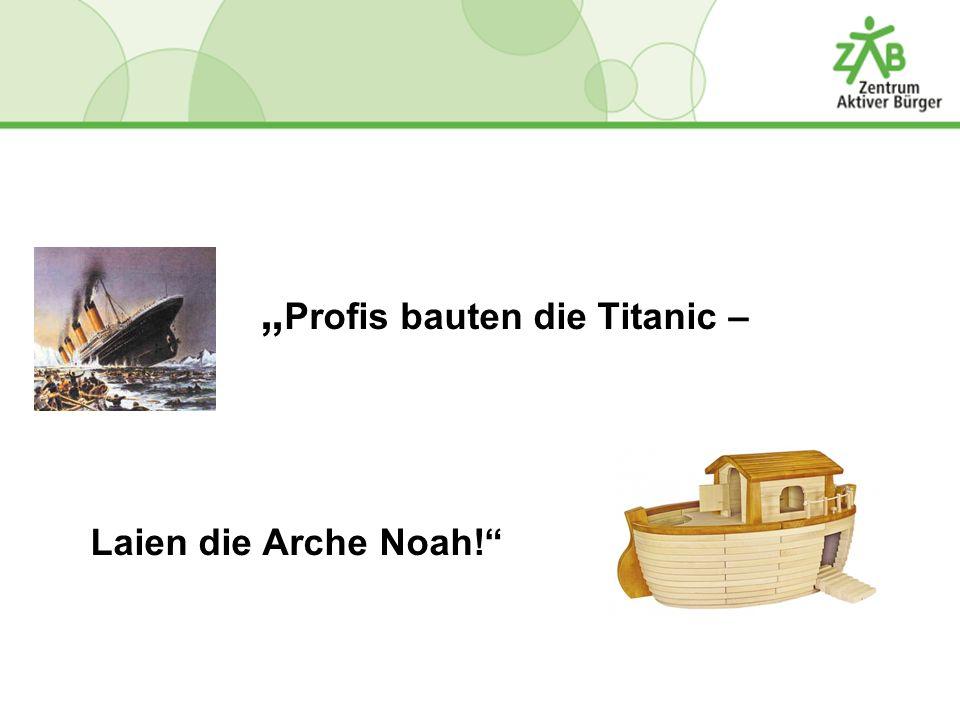 """""""Profis bauten die Titanic –"""