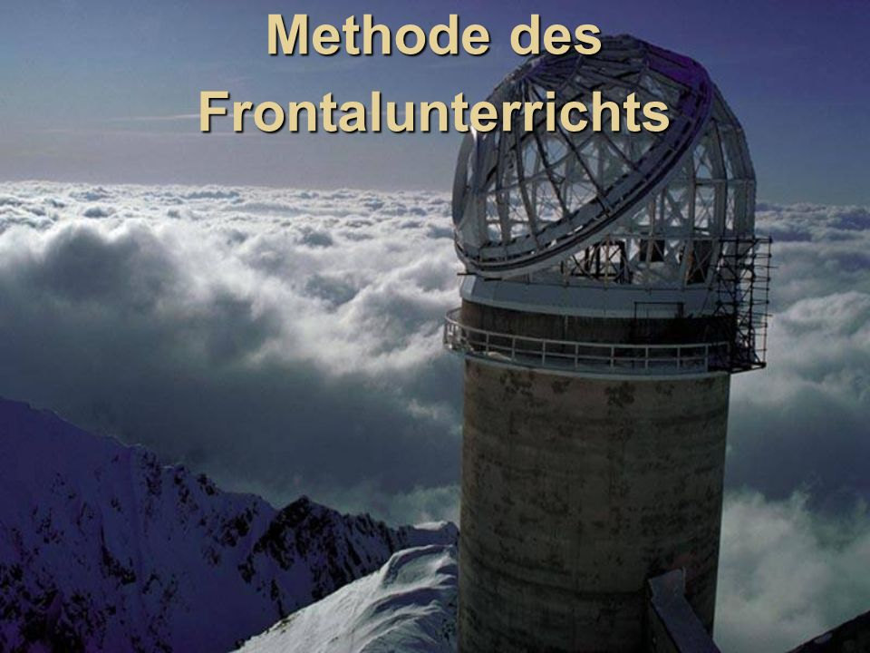 Methode des Frontalunterrichts