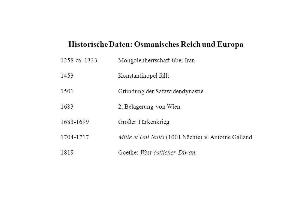 Historische Daten: Osmanisches Reich und Europa