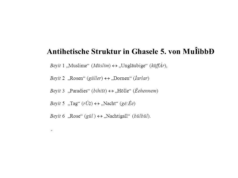 Antihetische Struktur in Ghasele 5. von MuÎibbÐ