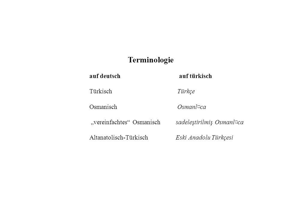 auf deutsch auf türkisch Türkisch Türkçe Osmanisch Osmanl¤ca
