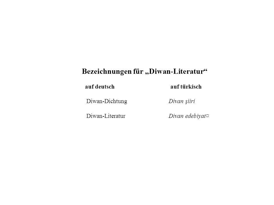 """Bezeichnungen für """"Diwan-Literatur"""