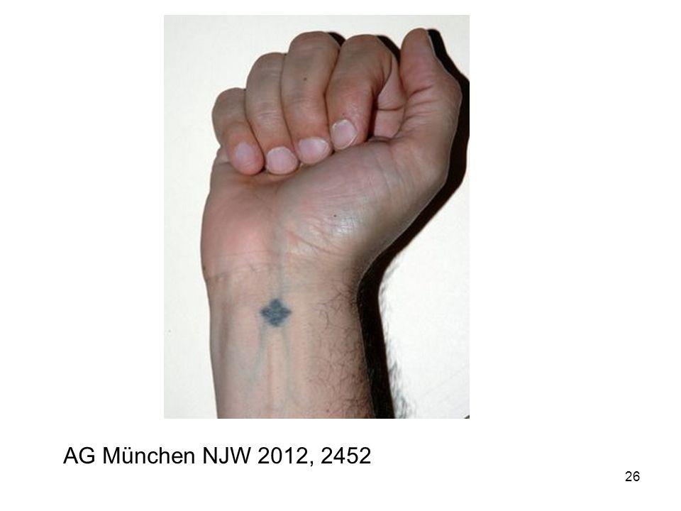 AG München NJW 2012, 2452