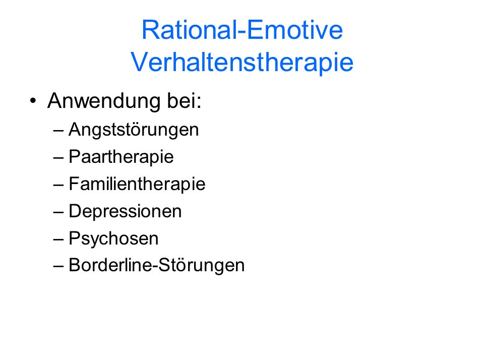 Rational-Emotive Verhaltenstherapie