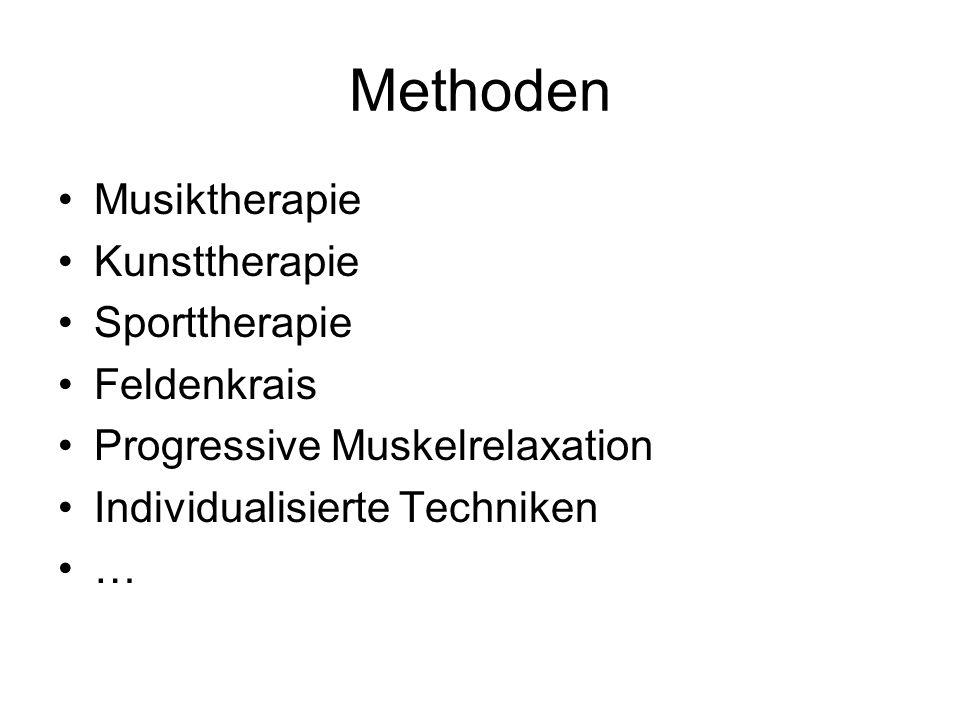Methoden Musiktherapie Kunsttherapie Sporttherapie Feldenkrais